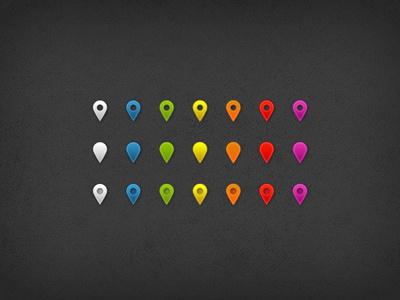 Map Pins map pin psd ui free psd map pins