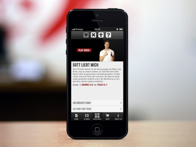 DIE4PUNKTE v2 mobile iphone ios webapp ui clean app