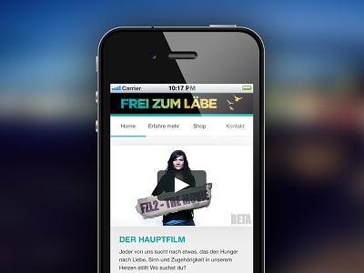 Frei Zum Läbe mobile responsive web design website iphone