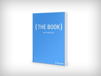 Book Mockup - soft cover book psd mockup template cover