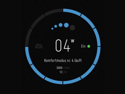 Deutsche Vortex BlueOne Interface Concept ux infotainment circle dashboard timer iot interface mobile gui ui