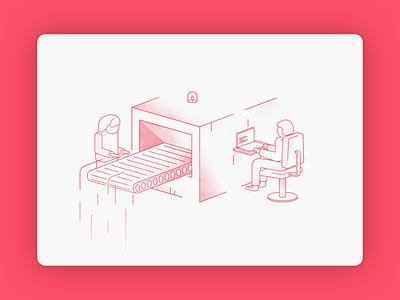 MVP Machine clean simple mvp machine design isometric red minimalist illustration ui