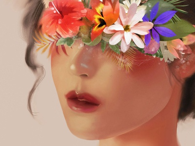 Bloom digital illustrator digital art color artwork digital painting art illustration design colorful