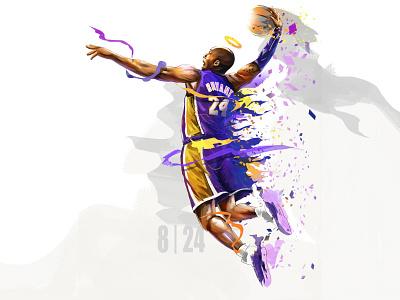 8|24 basketball color artwork digital painting design art illustration colorful kobe