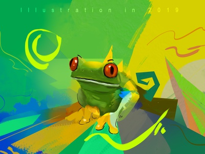 Frog frog illustrator artwork digital painting digital art digital color art illustration design colorful