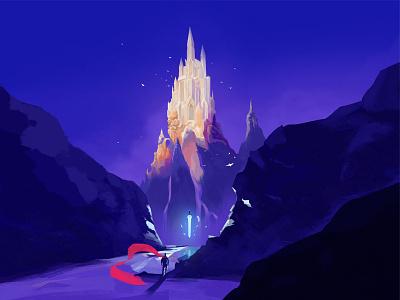 Castle castle artwork illustrator digital painting digital art digital color art illustration design colorful