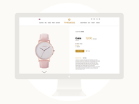 Timeless watches - Product page