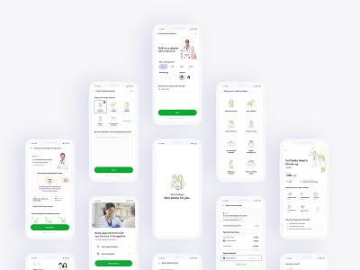 DocsApp Screens lab test medicine doctor bangalore india user inteface user experience design ux  ui visualdesign visual ui design ui