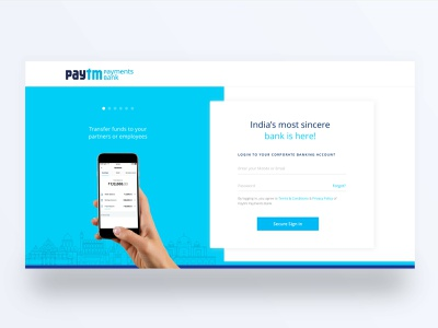 Paytm Payment Bank design ui