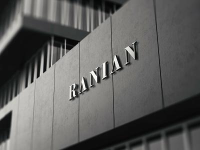 Ranian Logo indian brand fashion luxury logo design