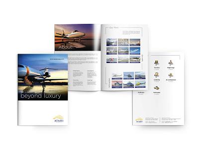 Atari Airways brochure design luxury