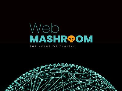 Web Mashroom logo design