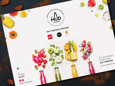 Designed a menu for The Mud Shakes branding logodesign menudesign
