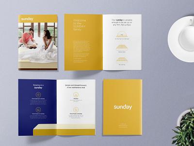 Sunday Rest Brochure Design mattress brochure design