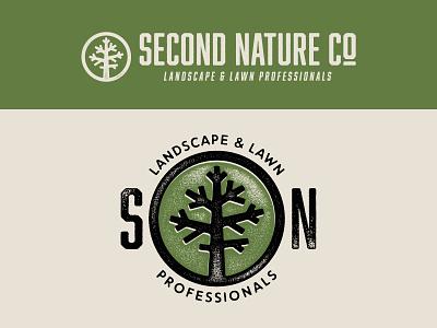 Second Nature Logo Refresh texture typography logo branding illustration design