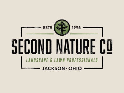 Second Nature Logo Refresh texture typography logo branding illustration design