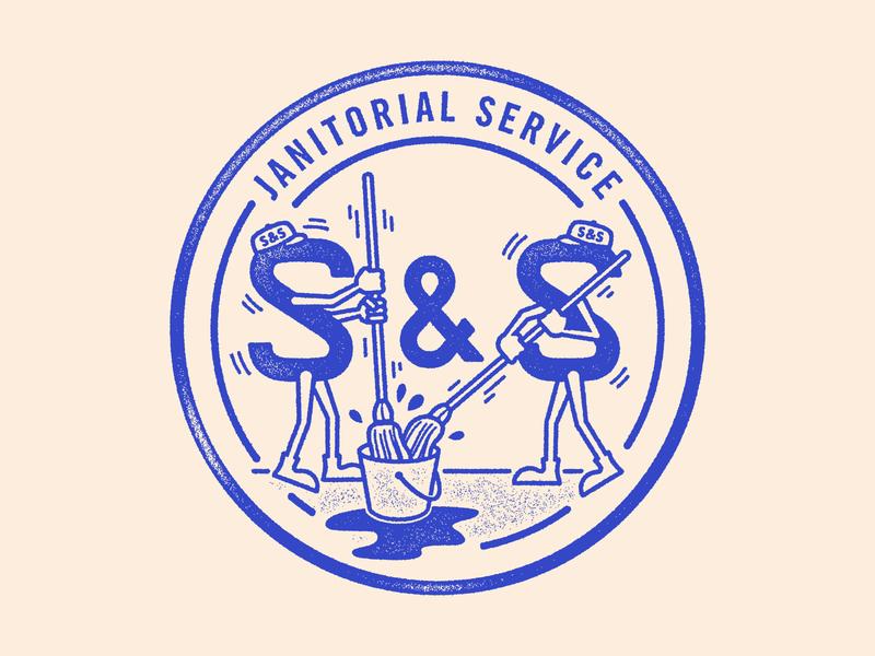 S & S Logo texture typography vector brand logo branding illustration design