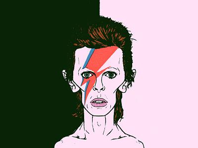 Bowie bowie portrait face sketch illustration design