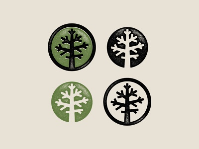 Second Nature Icons nature tree texture typography branding illustration design