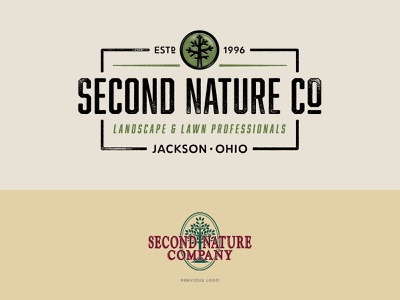 Second Nature Logo Comparison nature tree texture typography logo branding illustration design