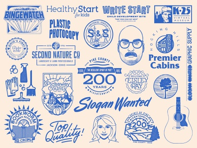 Lettering/Branding Roundup 2 wordmark vector typography portfolio marks logo lockup lettering illustration identity icon handdrawn graphic design dribbble drawing design branding brand badge art