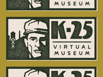 K-25 Virtual Museum cold war nuclear atomic wwii ww2 virtual face lettering brand texture vector typography logo branding illustration