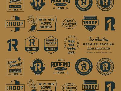 1ROOF Swag Pack Overview magic brave little beast swag logo lockup vector type branding agency branding illustration design