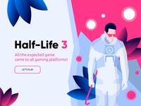 Half-Life 3 landing page