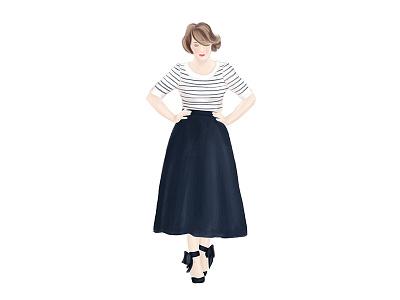 Elegant Portrait procreate digital painting woman illustration portrait