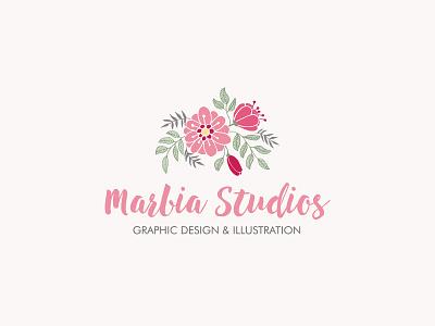 Marbia Studios Logo logo designer floral branding logo design logo