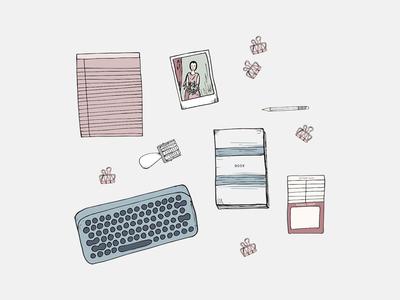 Hand Drawn Illustrations for Kayla Dean Set 1