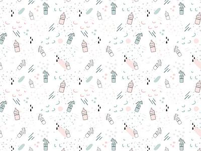 Milkbar Breastpumps Pattern Design abstract brand design logo vector brand assets hand drawn design pattern a day patterns pattern graphic design logo designer illustrator pattern design illustration design branding illustration
