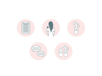 Instagram Highlight Icons for Milkbar Breastpumps instagram story icon design icon iconset icons brand design logo vector brand assets hand drawn design pattern a day pattern graphic design logo designer illustrator pattern design illustration design branding illustration