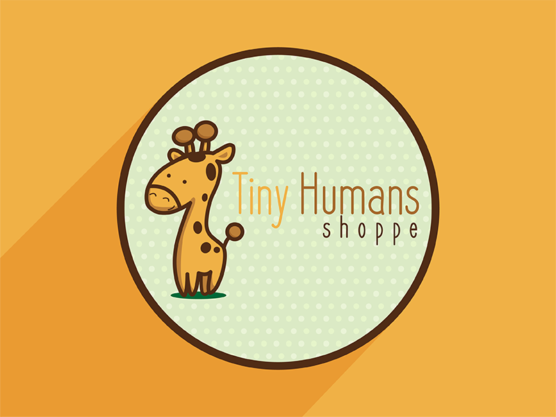 Tiny Humans Shoppe cartoon illustrator branding logo illustration giraffe