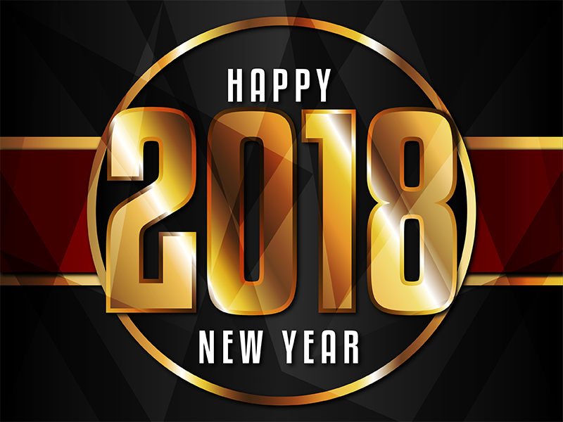 Happy New Year! 2018 gold vector happy new year new year