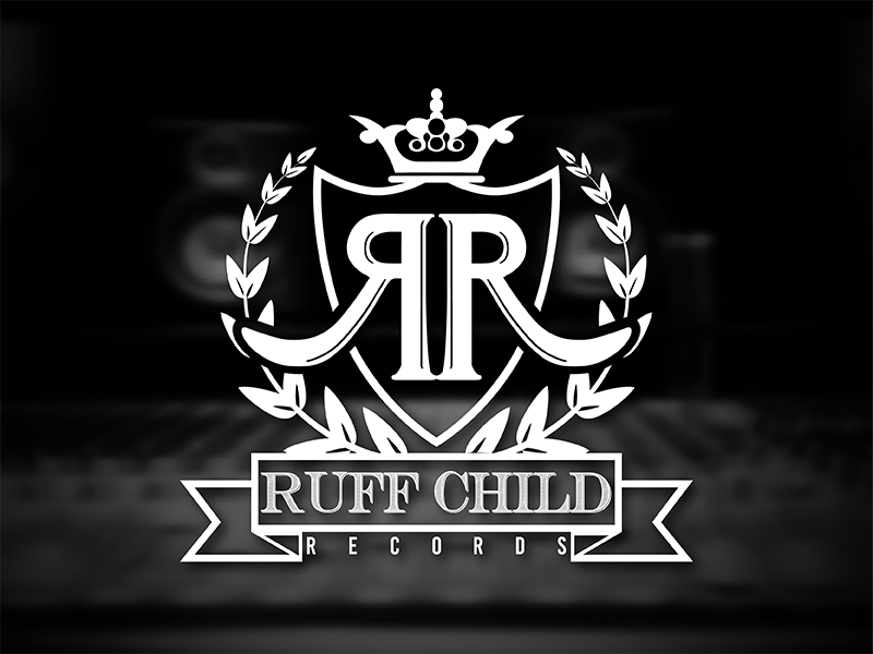 Ruff Child Records Logo shield crown branding illustrator music vector logo