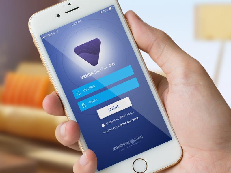 Venda Digital 2.0 Mongeral app iphone ux user interface