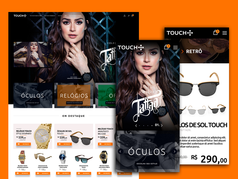 Site Touch store technos touch e-commerce ux ui