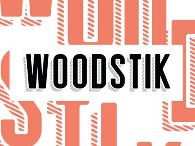 Woodstik font font layer shadow typography wood type