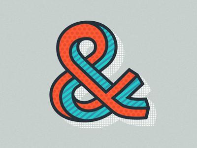 Ampersand display layered illustration typography sans font