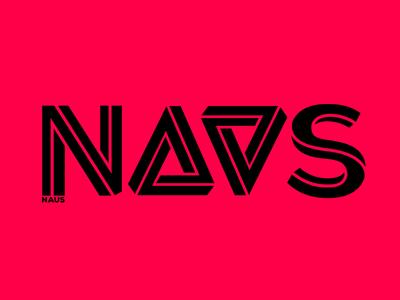 Naus Logo  typography font lettering