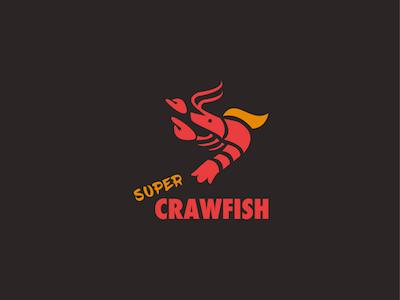 Crawfish logo food sea graphic design graphics design logo super crawfish