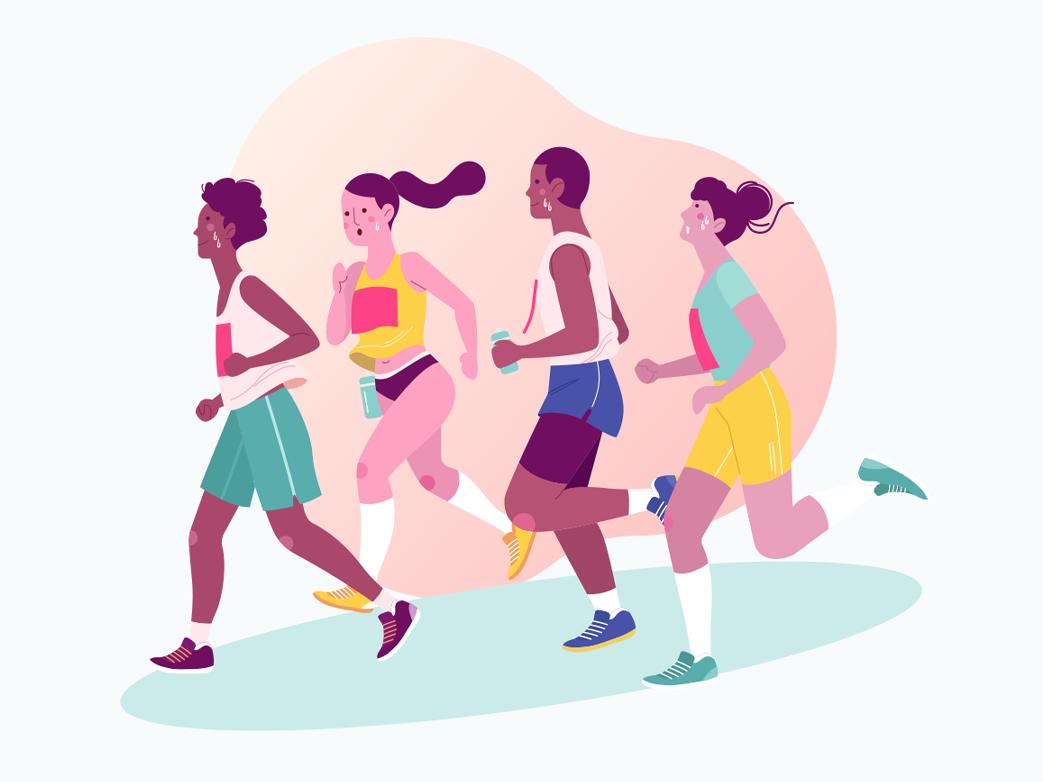 Runners illustrations runner illustration runners sports sport vector illustrators vectors illustrator