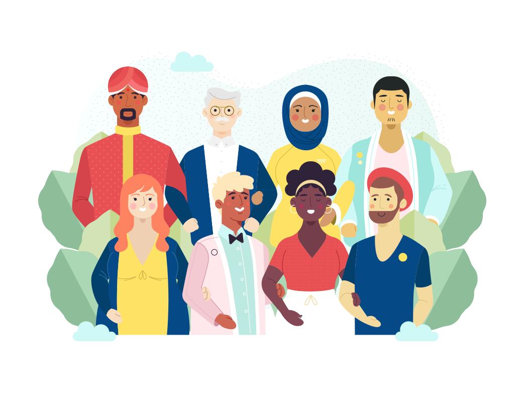 Together vectorstock illustration art vectors illustration vectorial illustration vector illustration diversity people diversity
