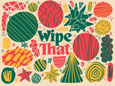 WIPE THAT CHRISTMAS textures strokes shapes abstract christmas christmas illustration wipe that