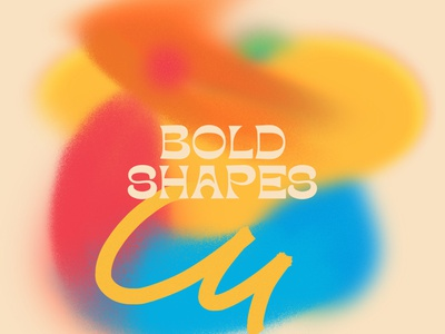 BOLD SHAPES type font noise blur shapes textures bold