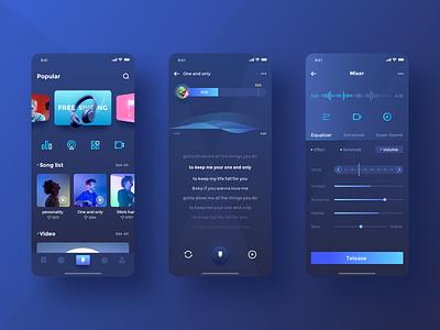 Dark karaoke2 musicapp dark colorful app design