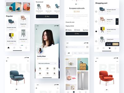 Furniture APP-3 simple design card design design app furniture app ux ui product