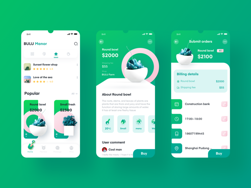 Plant Delivery APP ux plant delivery app product design ui
