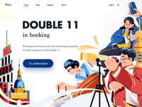 double 11 design webdesign cloud boy girl people illustration double11 product illustration colorful design